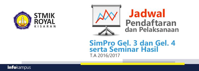 Banner WEB STMIK - Jadwal Simpro gel 3-4 dan Seminar Hasil TA 2016-2017