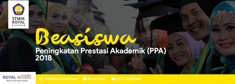 Banner WEB STMIK Royal - Beasiswa PPA 2018