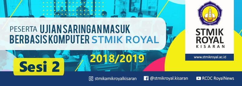 Banner WEB STMIK Royal - USM Gel1 Sesi2 STMIK 2018