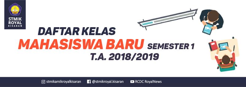 Banner WEB STMIK Royal - Daftar Kelas Mahasiswa Baru 2018-2019
