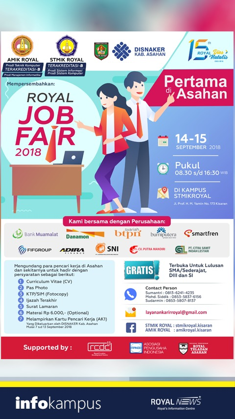 stmik royal job fair 2018